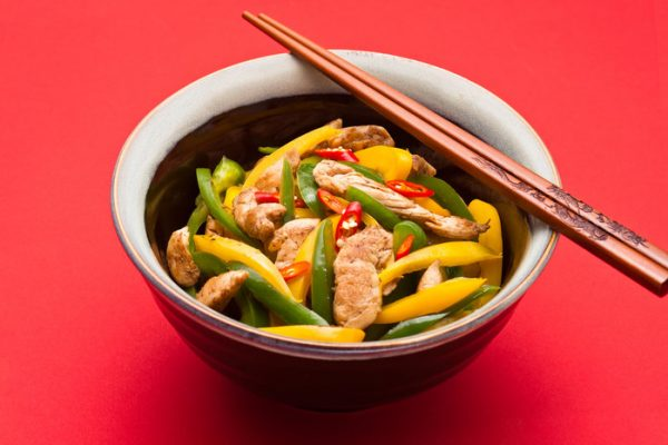 Stir Fry Sliced Chicken with Capsicum Medley